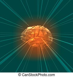 The Concept of Active Human Brain with Rays