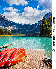 Emerald Lake in the Canadian Rockies