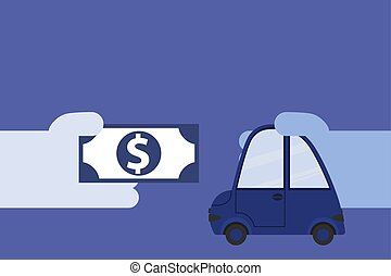 The concept of buying a car