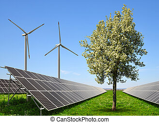 The concept of clean energy.