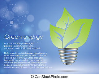 the concept of clean, green energy