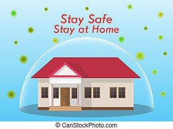 The concept of coronavirus. Stay home during the coronavirus epidemic.