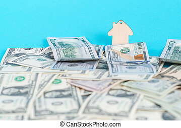 The concept of financial savings to buy a house. Mini model...