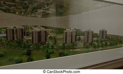 the concept of hand made layout of city development - hand...