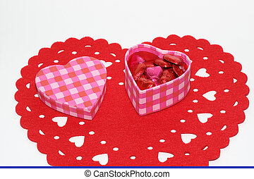 A heart shaped box of chocolates