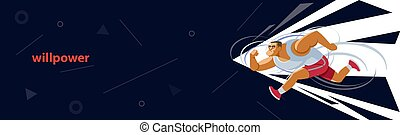 The concept of perseverance. Vector illustration for ...