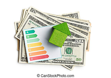 concept of the house energy saving