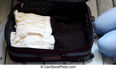 The concept of travel To the northern countries. Traveling for Christmas