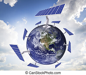 energy of the sun - The concept of use for the household...