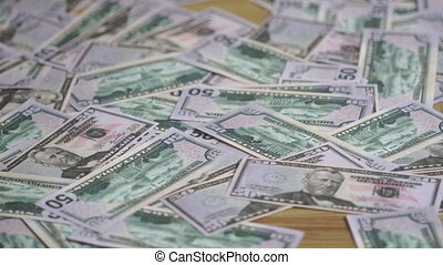 the concept of wealth money lying on the floor