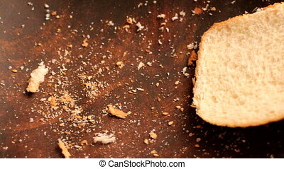 The concept of world without hunger (FAO). Blow off bread ...
