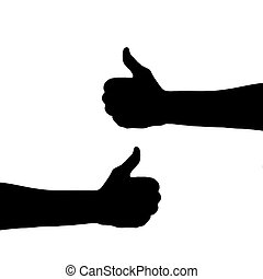 The concept will be all right. Hands in the shape of a thumbs up. Illustration for your design.
