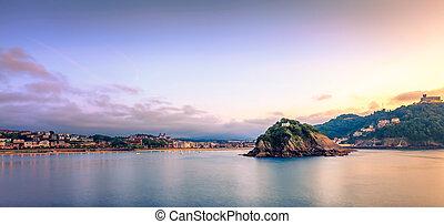 The Concha Bay at Sunset