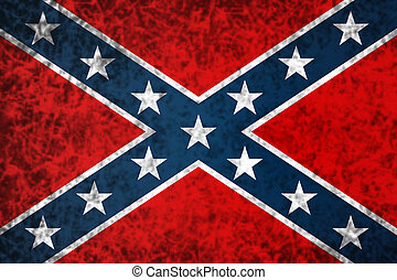 The Confederate flag. - National flag of the Confederate ...