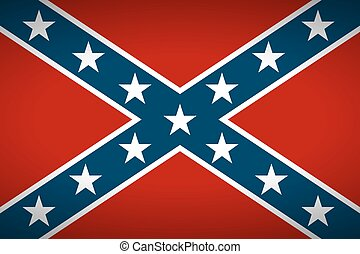 The Confederate flag.