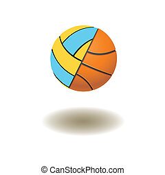 volleyball and basketball balls - The connected volleyball...