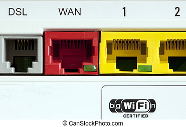 the connections of a adsl equipment