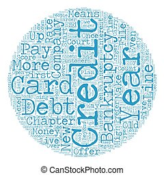 The Consequences of Credit Card Company Created Bankruptcy text background wordcloud concept