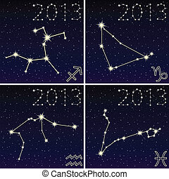 the constellation of capricorn, aquarius, sagittarius,...