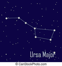 "The constellation "" Ursa Major "" star in the night sky. Vector illustration"