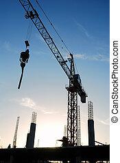 The construction crane