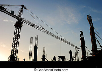 The construction crane