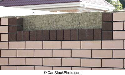 the construction of a brick house