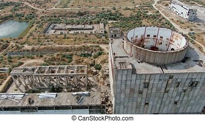 the construction of an abandoned complex of buildings of the nuclear power plant of the Soviet Union