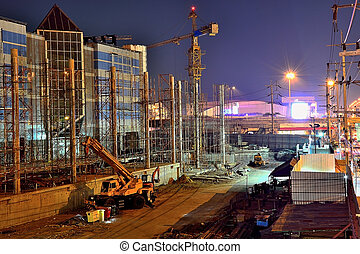 The construction of large projects Night Vision