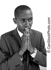 The Contemplation - This is an image of a businessman, with...