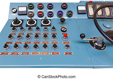 control panel  - the control panel of an old locomotive