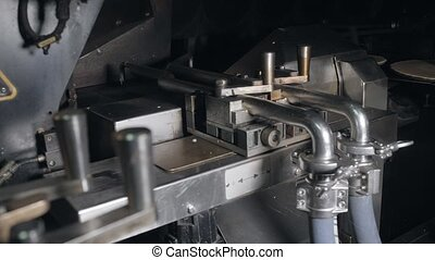 The conveyor automatic lines for the production of ice cream cones. Wafer cups and cones. Large industrial production. A major supplier of ice cream to the retail network.