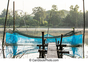 the coop for fish farm in thailand