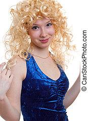 coquettish blonde girl