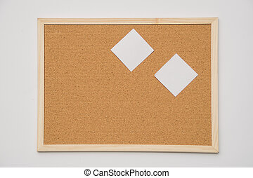 The cork-board on white background