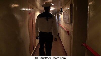 The corridor of the ship
