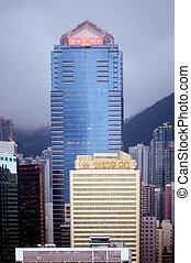 The Cosco Tower in Hong Kong, China