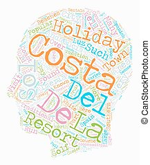 The Costas of Andalucia text background wordcloud concept