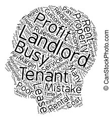 The Costliest Landlord Mistakes text background wordcloud...