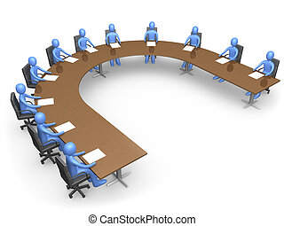 The Council - people having a business meeting.