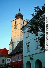 old town of Sibiu, Romania