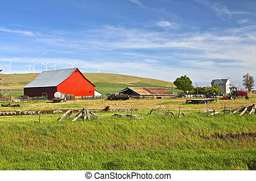 The country farm Eastern Washington state. - The country...