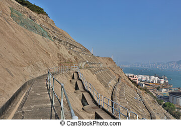 the Country side retaining wall hk - the Nam Wan Kok Tsing...
