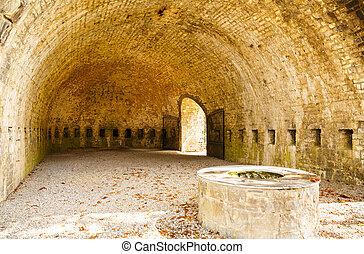 Citadel - The courtyard of Citadel in Dinant.