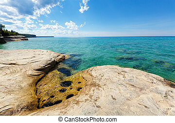 """""""The Coves"""" on Lake Superior at Pictured Rocks National Lakeshore, Michigan"""