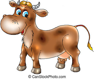 The cow - A series, amusing animals(animal)