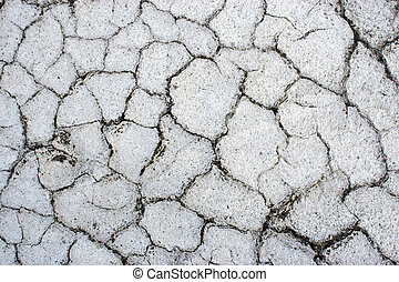 The cracked surface