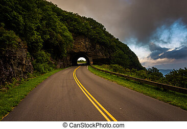 The Craggy Pinnacle Tunnel, on the Blue Ridge Parkway in North C