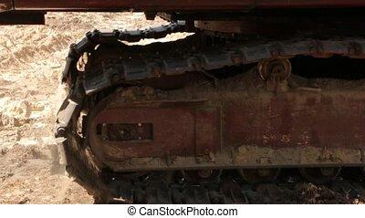 The Crawler Excavator - The crawler excavator with shovel...