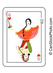 the crime card - Illustration - card of the queen - with a...